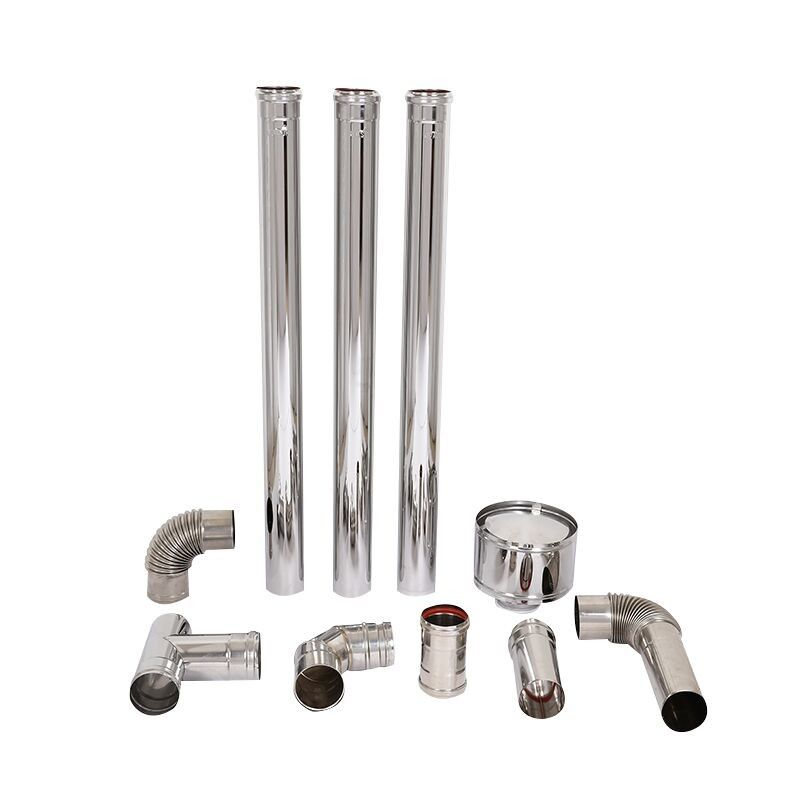 Stainless Steel Double Wall Chimney Pipe Fireplace Applied With Twist Lock